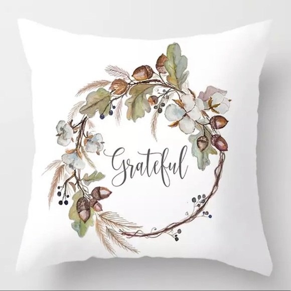 Other - Pillow Cover Grateful Print